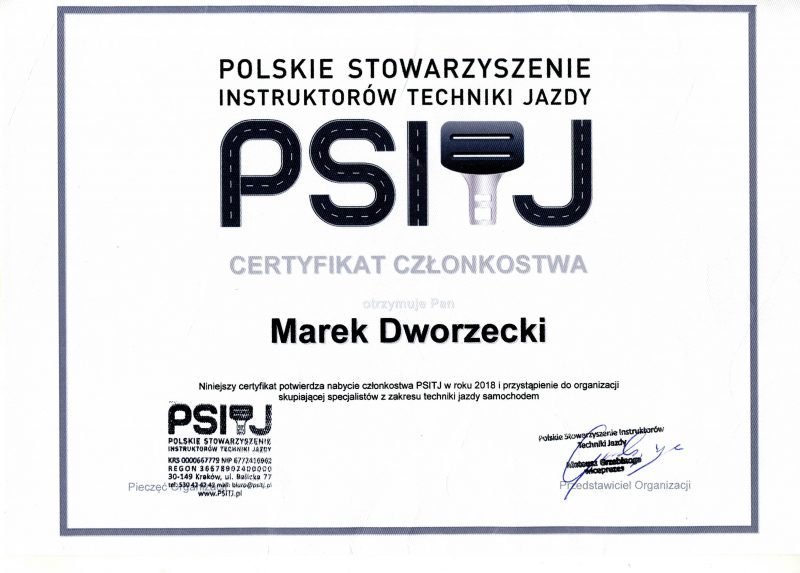 Certyfikat PSITJ